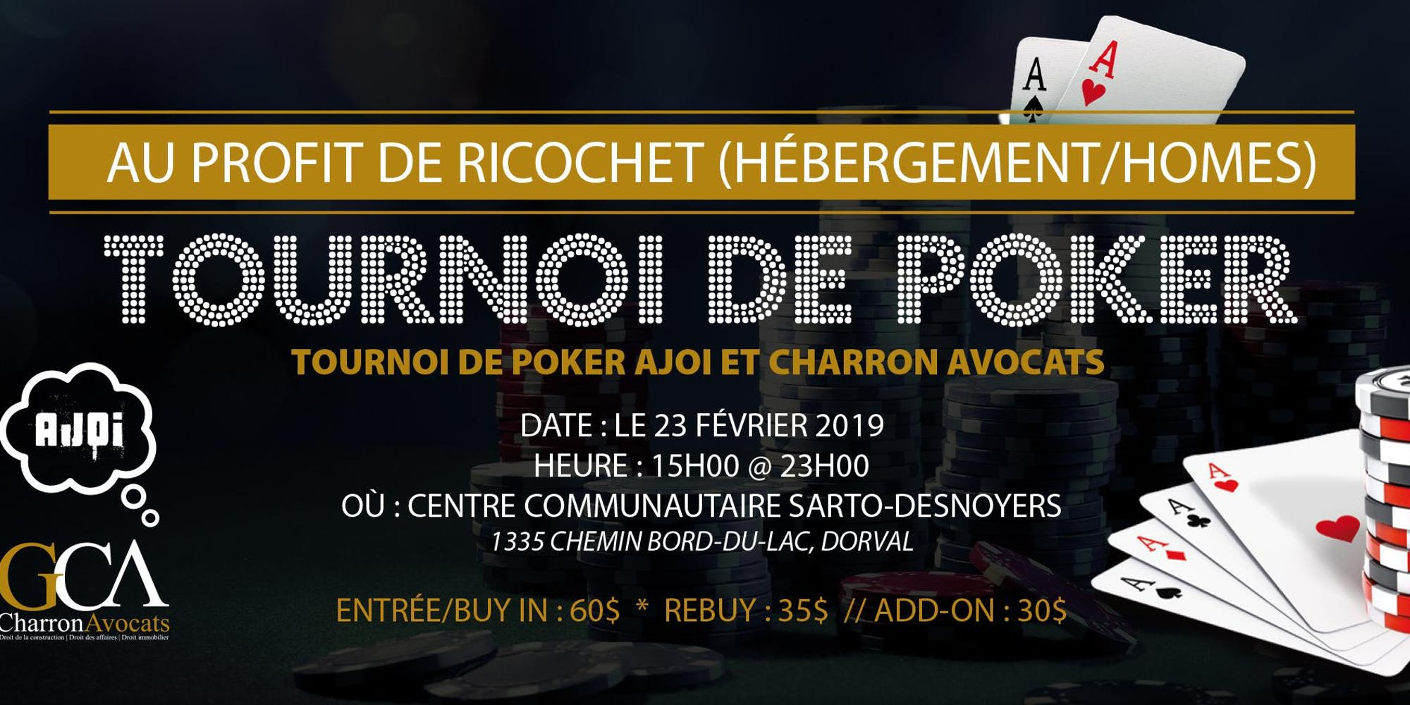 Poker Tournament/Casino Night AJOI & CHARRON AVOCATS 2019 Edition